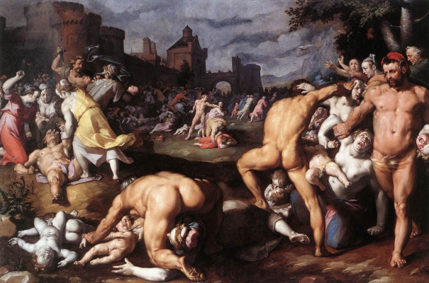 Cornelis van Haarlem. The massacre of the innocents