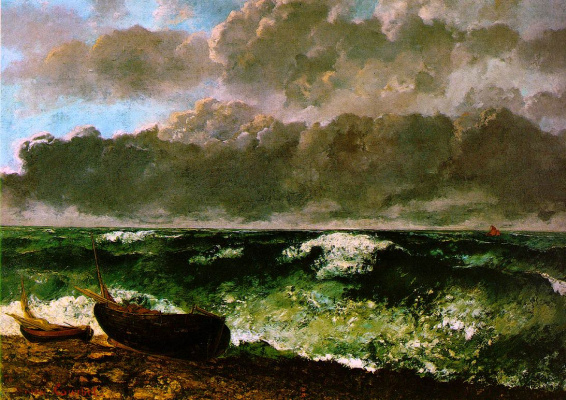 Gustave Courbet. Sea storm