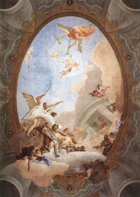 Джованни Баттиста Тьеполо. Allegory of nobility and virtue