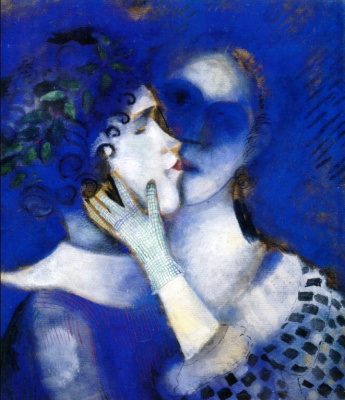 Marc Chagall. Blue lovers