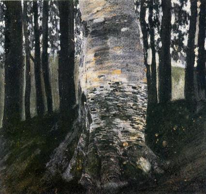 Густав Климт. Береза в лесу