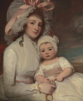 George Romney. Portrait of Mrs. Agnes Ainslie with Henry's son