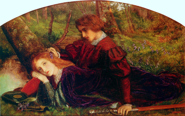 Arthur Hughes. Knight Gerent and Enida