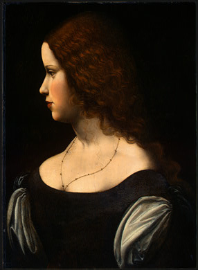 Unknown artist. Portrait of a young lady