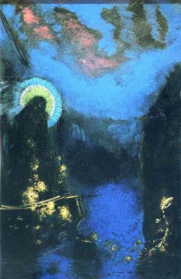 Odilon Redon. The boat (virgin with corona)