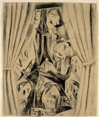 Robert Delaunay. The Eiffel Tower