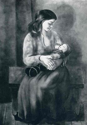 Моисей Кислинг. Мать с ребенком