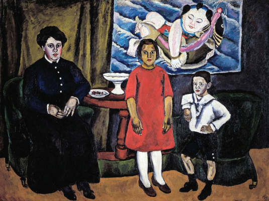 Petr Petrovich Konchalovsky. Family portrait (against Chinese panel)