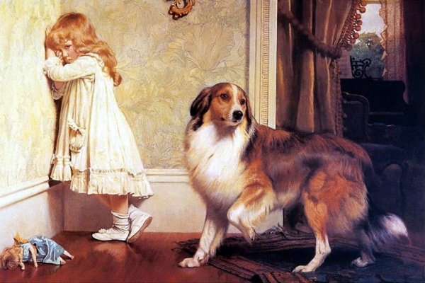Charles Burton Barber. Dog protection