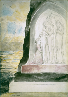 "William Blake. The angel said Dante. Illustrations for ""the divine Comedy"""