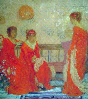 James Abbot McNeill Whistler. The harmony of physical and red