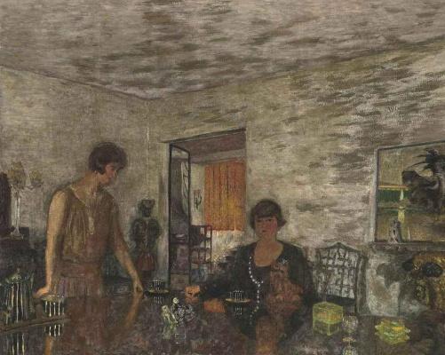 Жан Эдуар Вюйар. Черные чашки. Мизиа Серт и ее племянница Мими Годебска