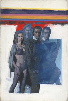 Michael Johnson. Five figures with rainbow