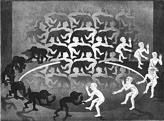 Maurits Cornelis Escher. A meeting