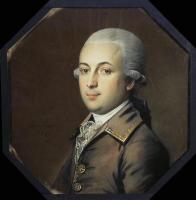 Иоганн Генрих Шмидт. Портрет молодого человека с пудреными волосами