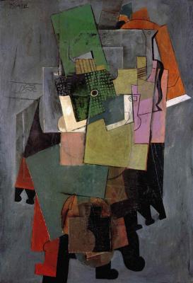 Пабло Пикассо. Музыкальные инструменты на круглом столике