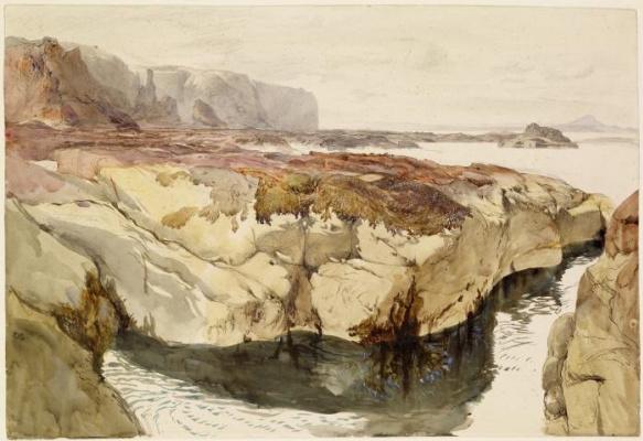 Джон Рёскин. Пейзаж побережья у Данбара, Шотландия