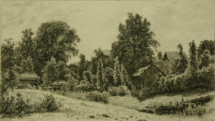 Ivan Ivanovich Shishkin. Backyard