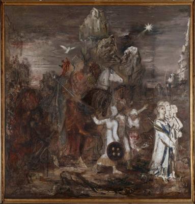 Gustave Moreau. Three queens
