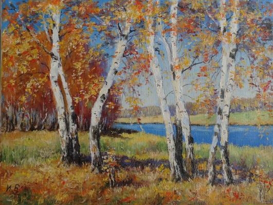 Irina Nikolaevna Borisova. Autumn birch.