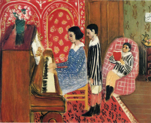 Анри Матисс. Урок с фортепиано