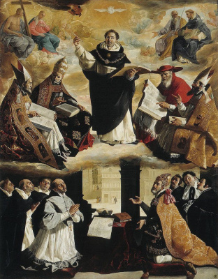 Francisco de Zurbaran. The apotheosis of St. Thomas Aquinas