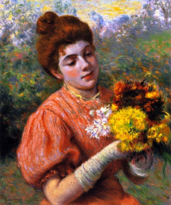 Federico Zandomenegi. Woman with bouquet