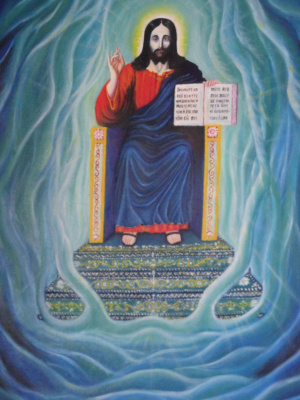 Sergey Nikolaevich Zinoviev. Jesus on the throne