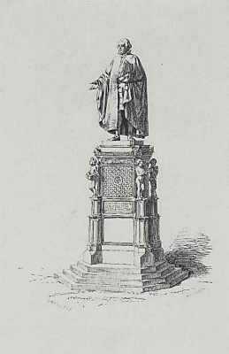 Adolf Friedrich Erdmann von Menzel. The statue of Justus Moser, the sculptor F. the Fight in Osnabruck