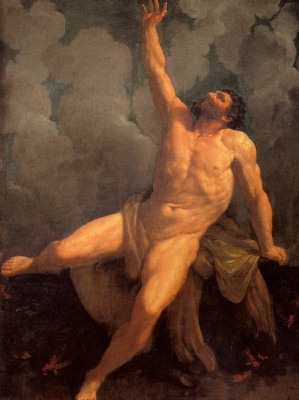 Guido Reni. The self-immolation of Hercules on mount Et