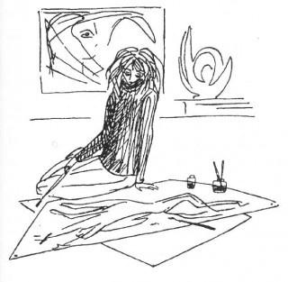 Nadezhda Nikolaevna Rusheva. Self-portrait