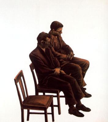 Хуан Геновес (Хеновес). Men sitting on chairs