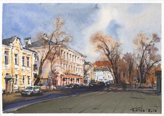 Anton Batov. Chistoprudny Boulevard