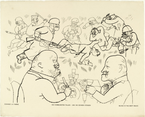 """George Grosz. Blood is the best sauce. From the album """"God is with us"""""""