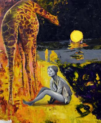 Sergei Lutsenko. Ladies and giraffe