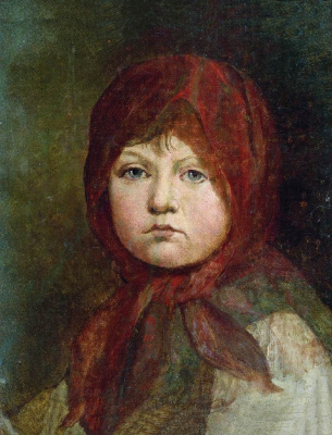 Petr Vasilyevich Basin. Portrait of a girl. 1815-1819