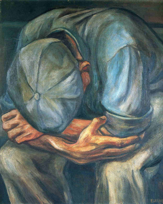 Will Barnet. The man in the cap