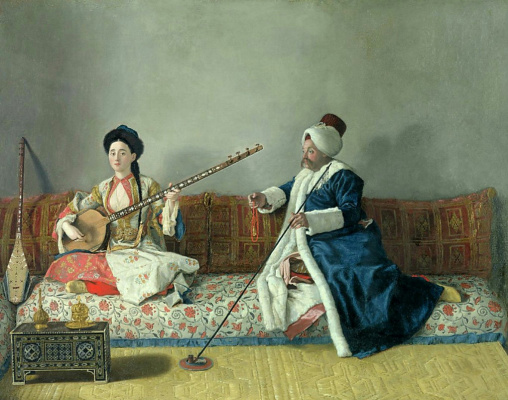 Jean-Etienne Lyotard. Monsieur Levett and Mademoiselle Hlavní in Turkish costumes