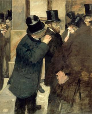 Edgar Degas. Portraits. Stock exchange