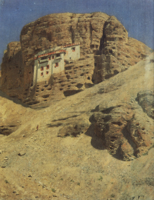 Vasily Vasilyevich Vereshchagin. Monastery in a rock. Ladakh