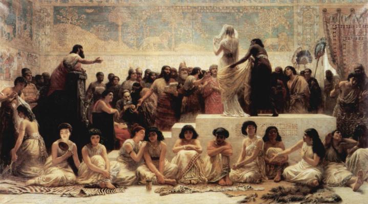 Эдвин Лонгсден Лонг. Рынок Вавилона