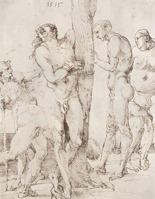 Albrecht Durer. Sketch six Nude figures