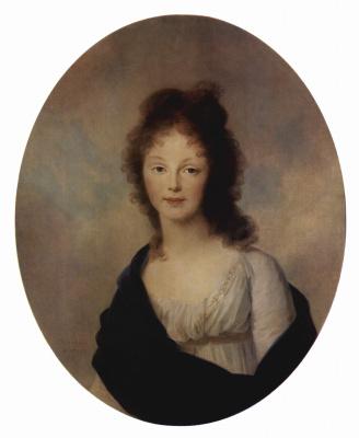 Иоганн Генрих Вильгельм Тишбейн. Портрет Луизы Прусской, жены короля Фридриха Вильгельма III