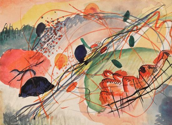 Wassily Kandinsky. Watercolor VI