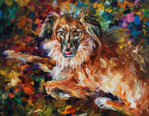 Leonid Afremov. Dog
