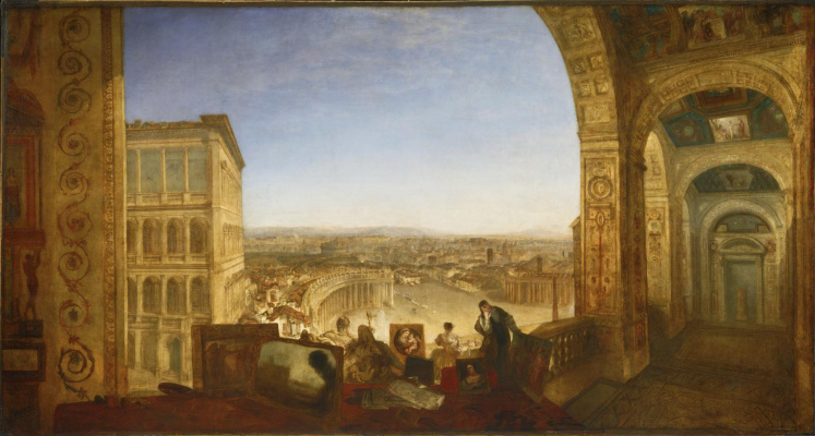 Joseph Mallord William Turner. Rome from the Vatican. Rafael writes Fornarina for decoration of the loggia