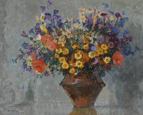 Константин Иванович Горбатов. Букет цветов. 1931