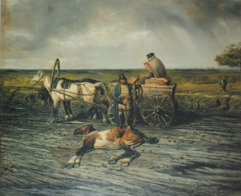 """Petr Petrovich Sokolov. """"The postman"""" 1860"""