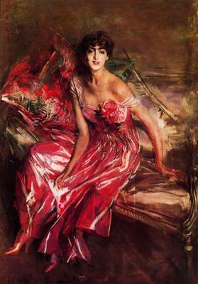 Джованни Больдини. Девушка в красном