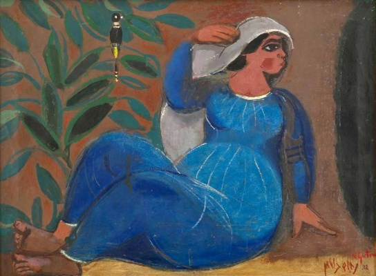 Нахум Гутман. Женщина и черная птица